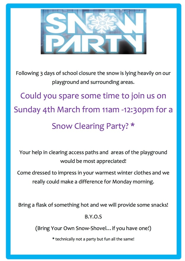 snow party website
